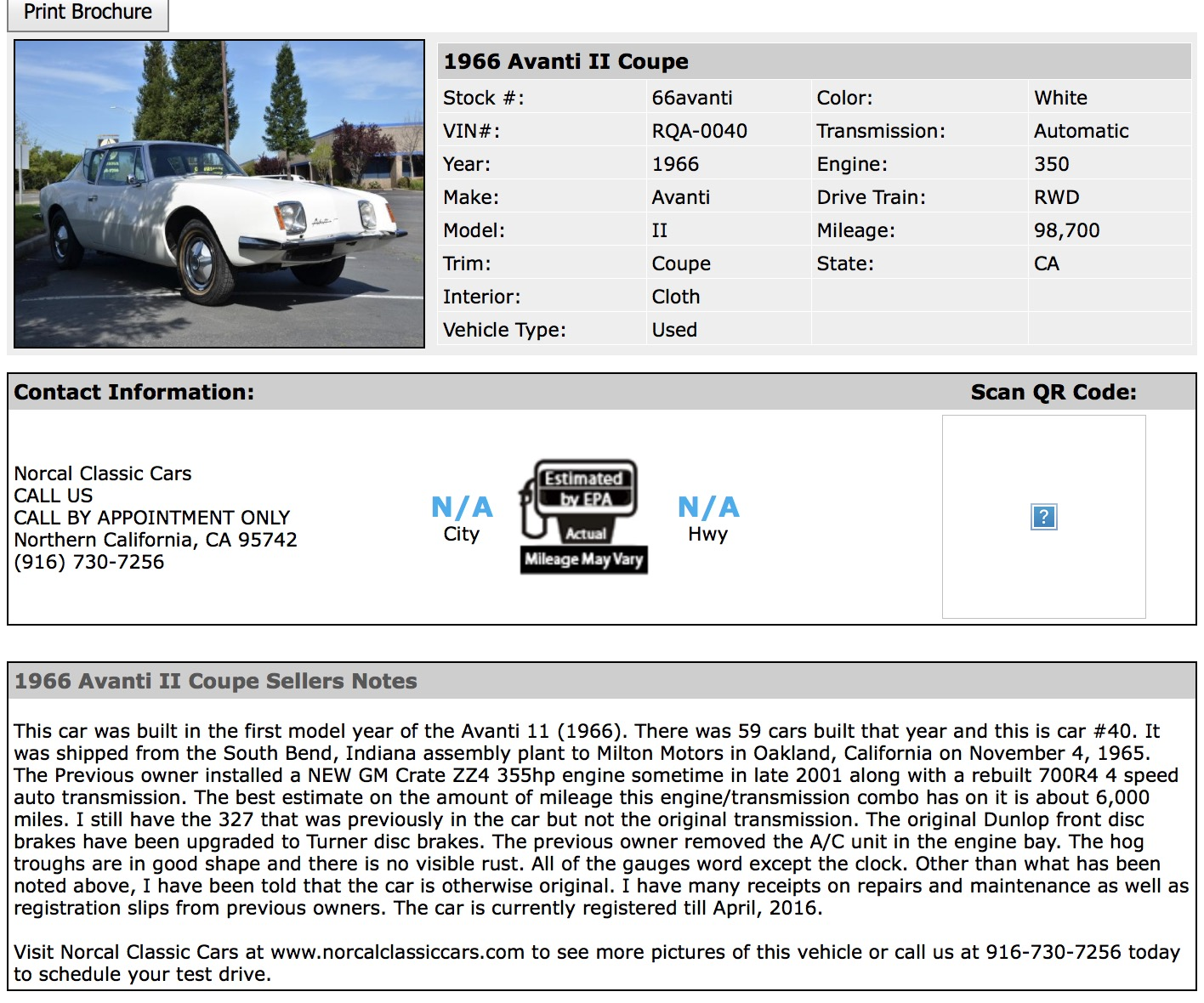 Bob Johnstones Studebaker Resource Website (Avanti II ...