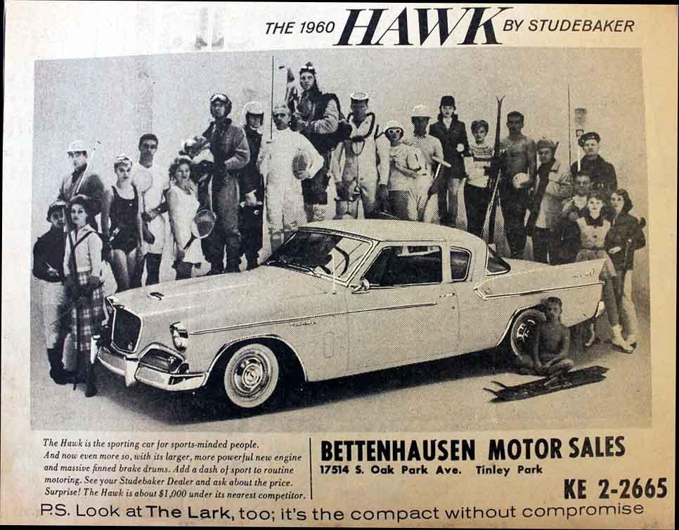 Bob 39 s studebaker resource website studebaker dealer for Bettenhausen motor sales tinley park il
