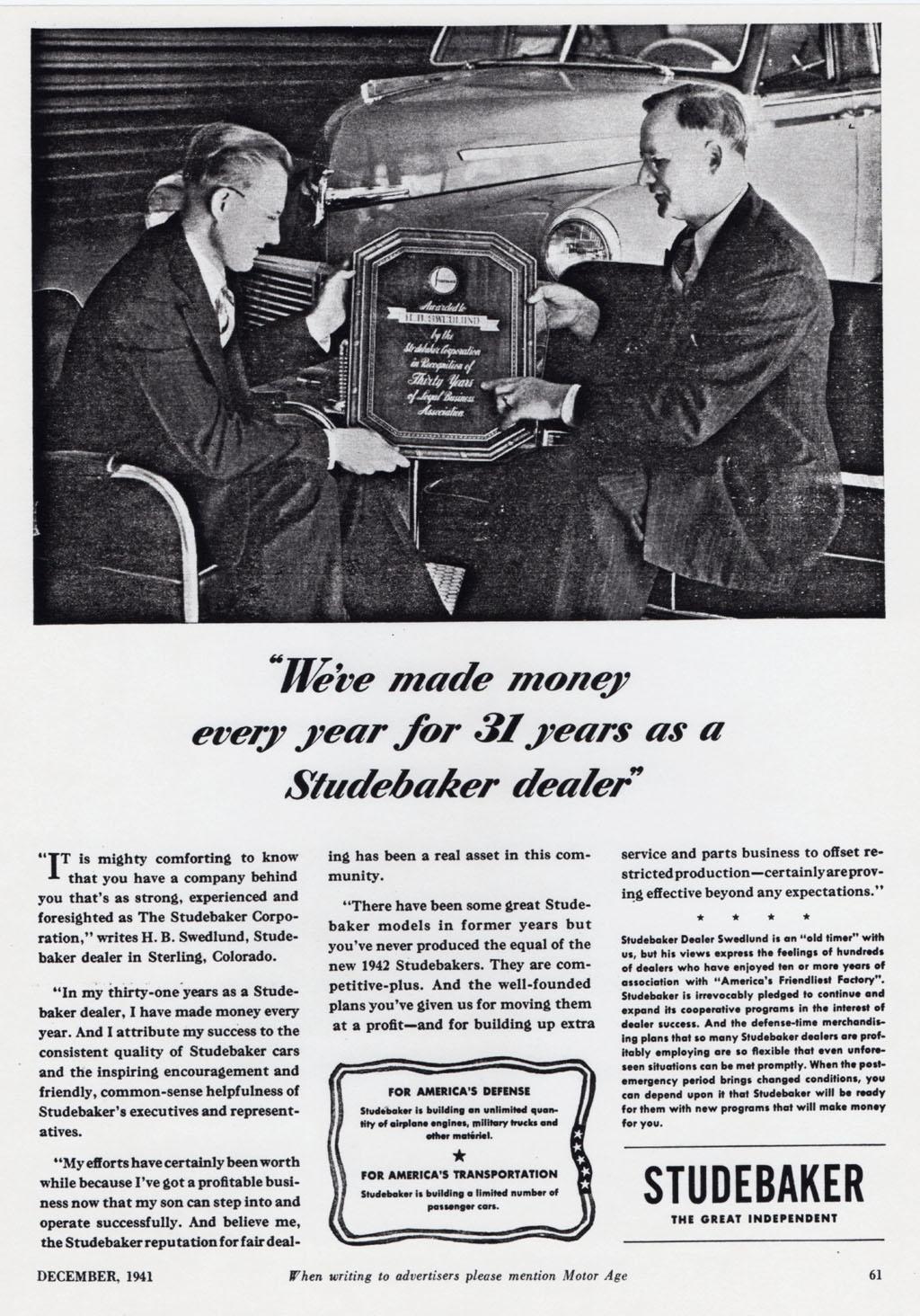 Bobs Studebaker Resource Website Dealer Listing Electrical Wiring Diagram For 1941 1948 All Trucks Harry Benjamin Swedlund Sterling Co C 1912 Ref 08 Apr 2013