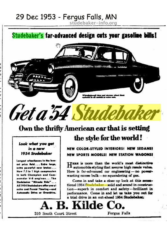 bob 39 s studebaker resource website studebaker dealer listing minnesota state page. Black Bedroom Furniture Sets. Home Design Ideas