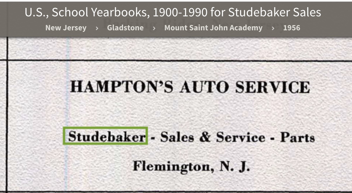 Bob's Studebaker Resource Website Studebaker Dealer ...