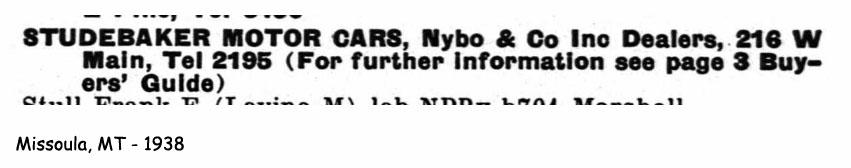 Missoula Car Dealers >> Bob's Studebaker Resource Website Studebaker Dealer Listing - Page 5