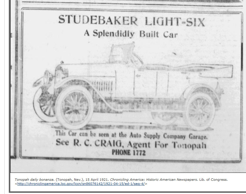 (The) Auto Supply Company Garage, (R.C. Craig) Tonopah, NV (E 1921) ...