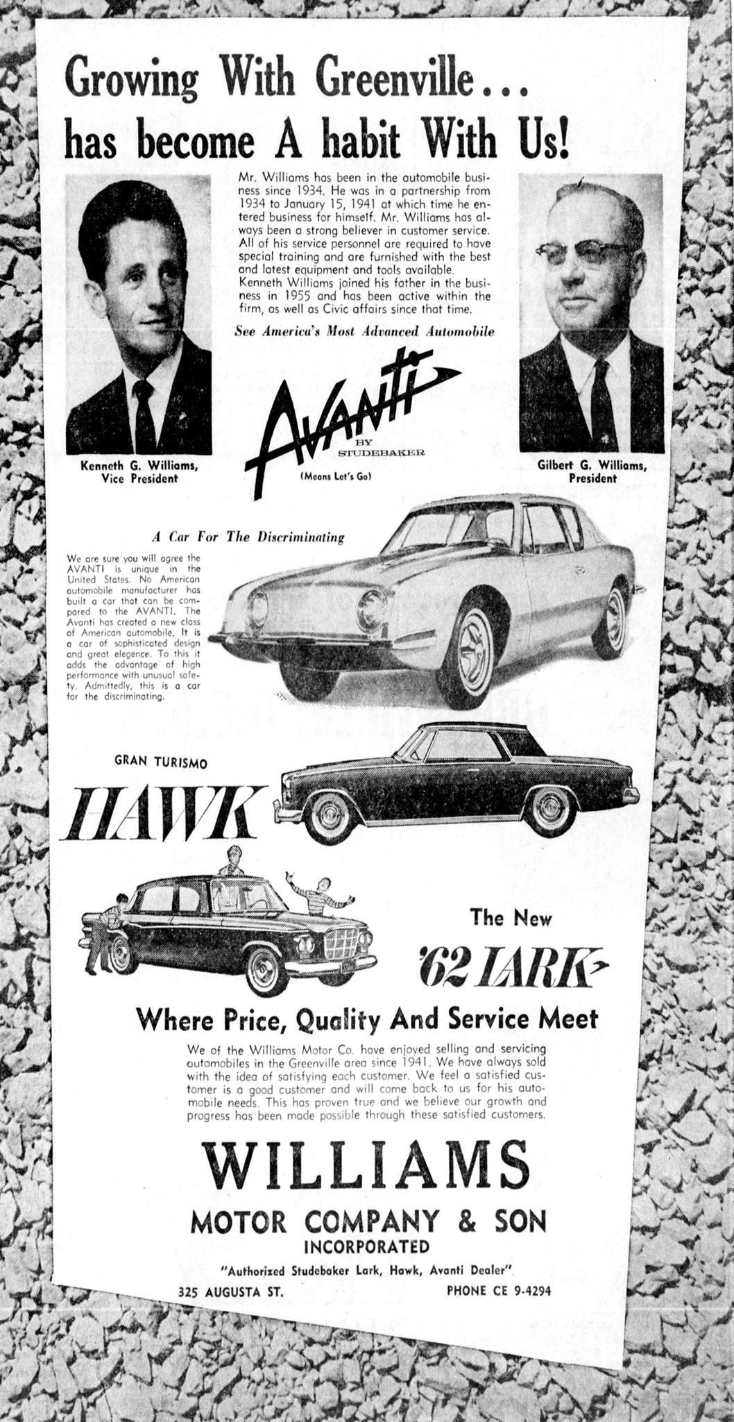 Car Dealerships In Anderson Sc >> Bob's Studebaker Resource Website Studebaker Dealer ...