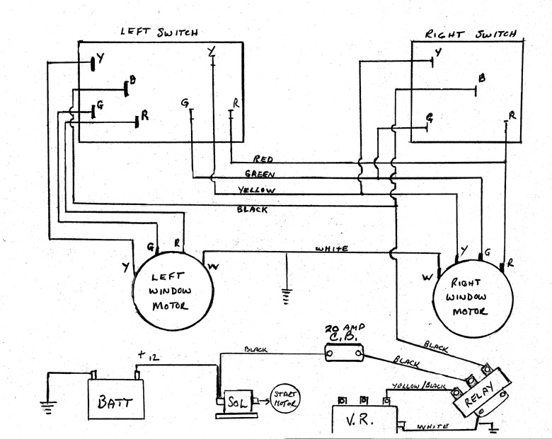 STPWCKB avanti power window wiring diagram studebaker wiring diagrams at soozxer.org