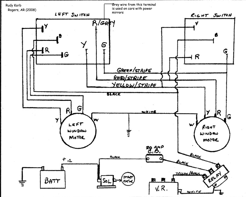 stpwckrk bob johnstone's studebaker and avanti page (studebaker power power window relay wiring diagram at soozxer.org