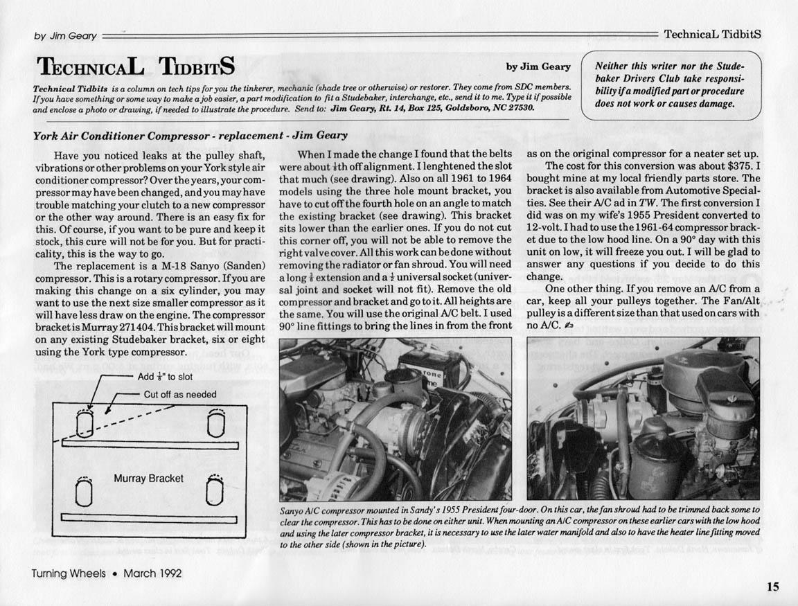Bob Johnstone's Studebaker and Avanti Page (Studebaker Tech Help and  #323232