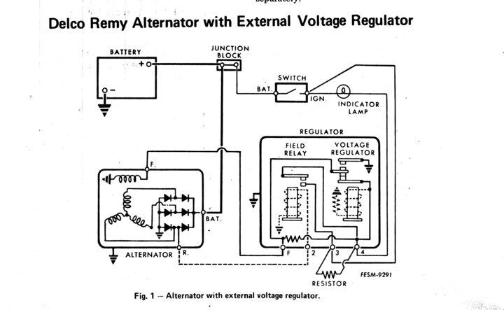 External Voltage Regulator Schematic - Owner Manual & Wiring ... on delco 10si wiring, chevy 3 wire alternator wiring, 10si alternator wiring, delco alternator connections, 3 wire gm alternator wiring, up a gm alternator wiring, basic gm alternator wiring, one wire alternator wiring,