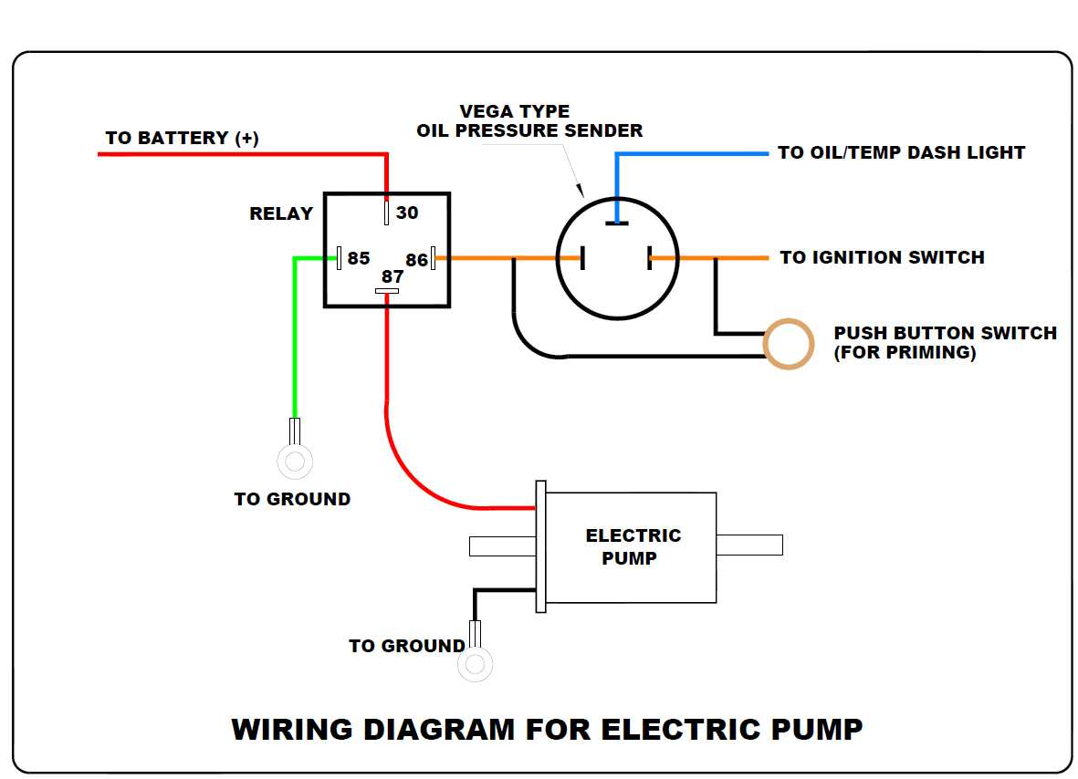 pressure fuel pump safety switch also oil pressure light switch Turn Signal Switch Wiring Diagram