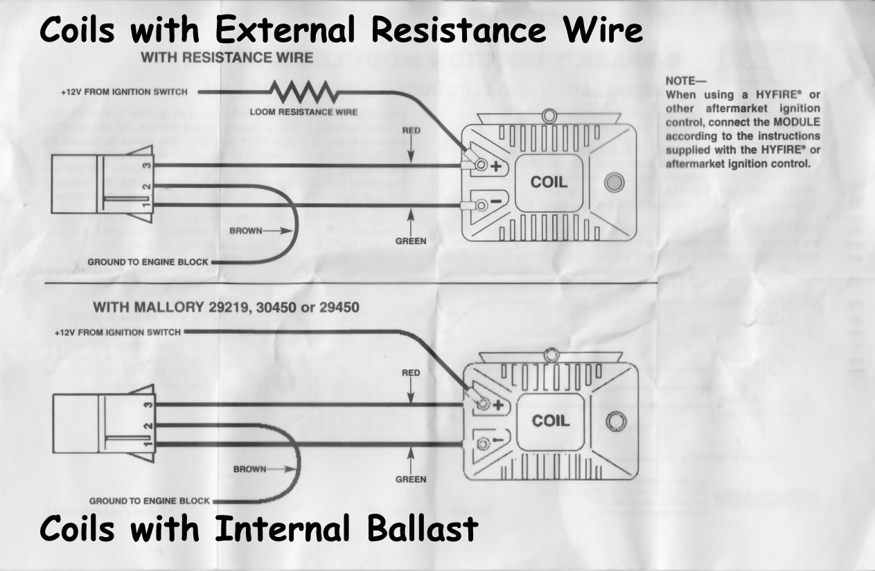 Mallory Hyfire Wiring Diagram Mallory Distributor Parts Diagram