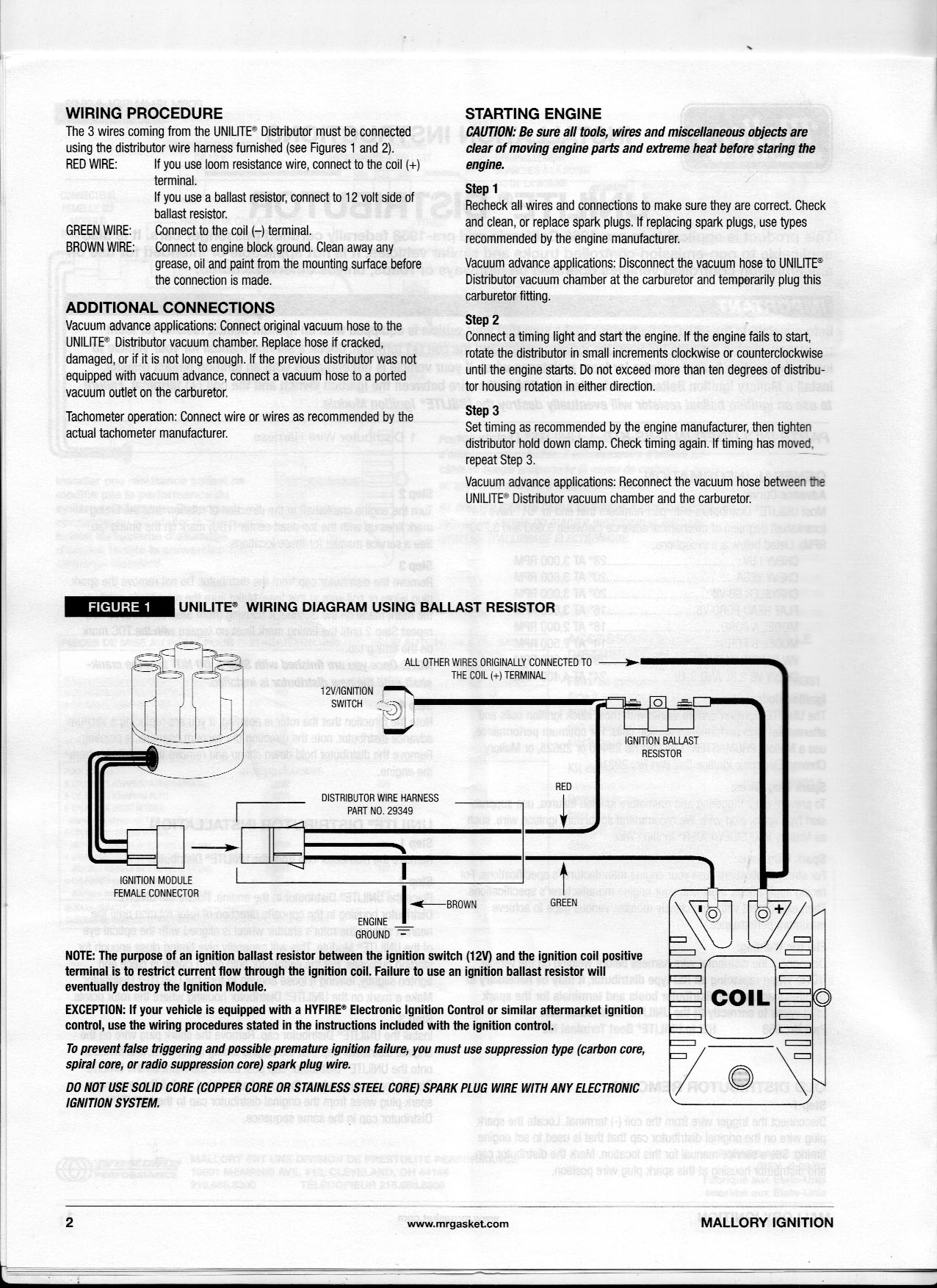 Bob\'s Studebaker Resource and Information Portal (Mallory Unilite ...