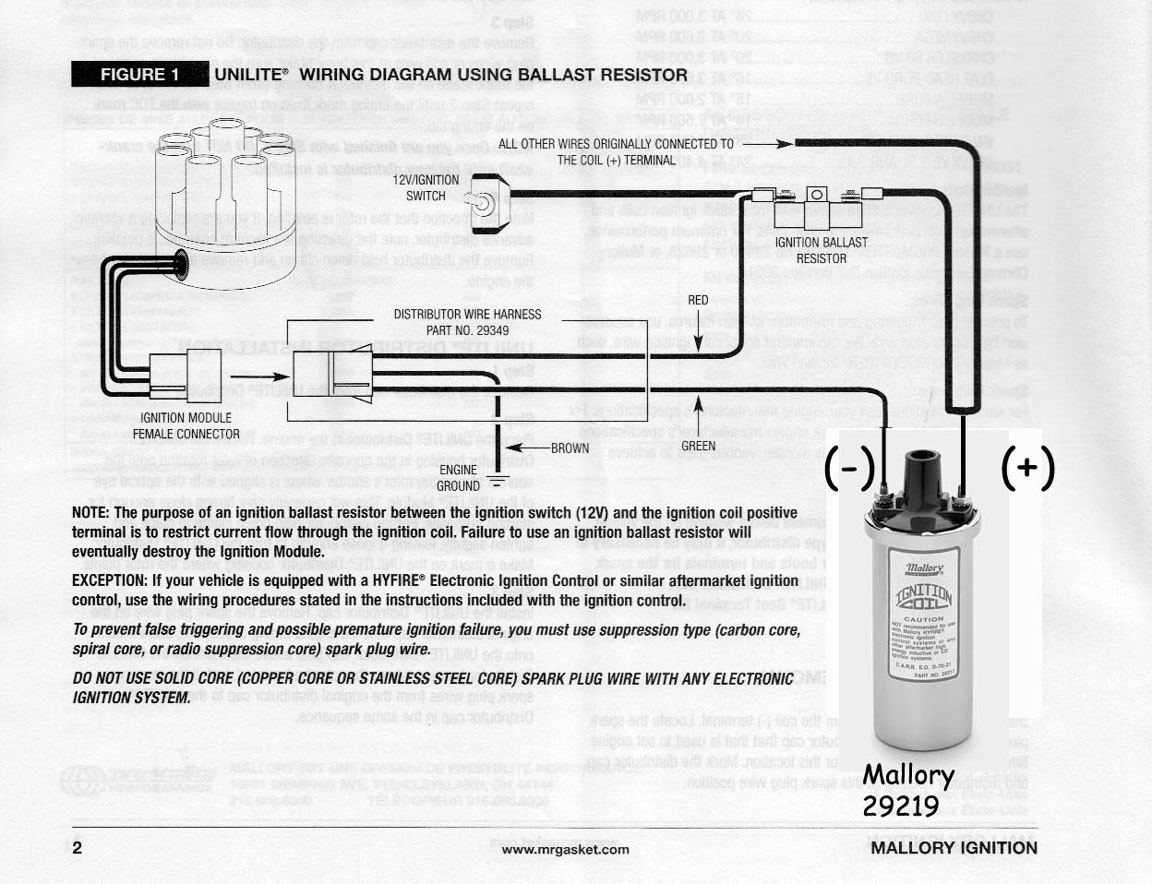 Wiring Diagram For Mallory Schematics Diagrams Distributor Ignition Internal 685 Hy Fire