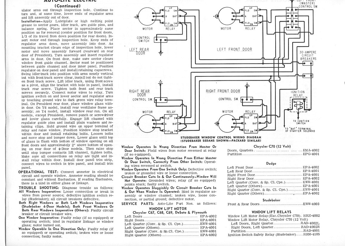 Electrical 6 Volt Power Windows Wire Motor Diagram Im Trying To Assist A Chapter Member In Installing Them His 55 Speedster He Has Everything Except Those Relays See Schematic Here