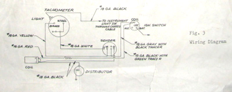 Bob Johnstones Studebaker Resource Website  1963 Studebaker   Avanti    Tachometer       wiring