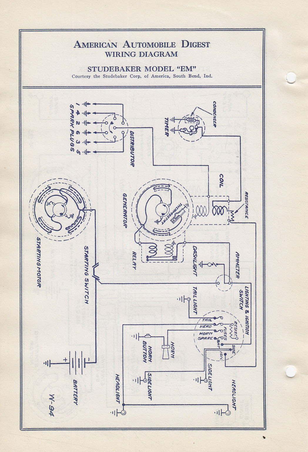 bob johnstones studebaker resource website  1922 Generator Wiring Diagram Generator Wiring Diagram