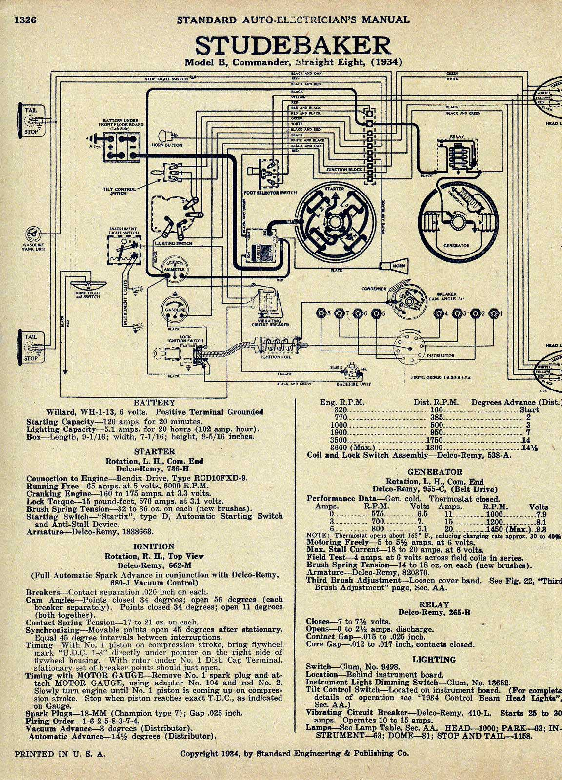 1951 Studebaker Wiring Diagram Trusted Diagrams 1950 Chevy Generator Bob Johnstones Resource Website Old 1959 Pickup